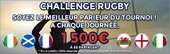 Challenge Rugby 6 Nations sur ParionsWeb.fr