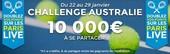 10.000€ en jeu sur l'Open d'Australie 2017 avec ParionsSport